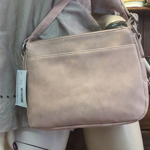 "Del Mano Bags - Crossbody Pocketbook 11""x8"" Mauve"